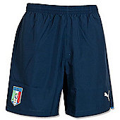 2014-15 Italy Puma Leisure Shorts (Navy) - Kids - Navy