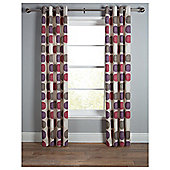 Tesco Saturn Unlined Eyelet Curtains - Red