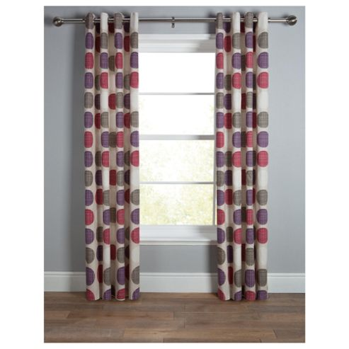 Tesco Saturn Unlined Eyelet Curtain W168xL137cm (66x54