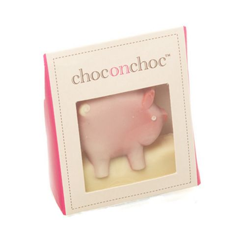 White Chocolate Mini Pig by Choc on Choc