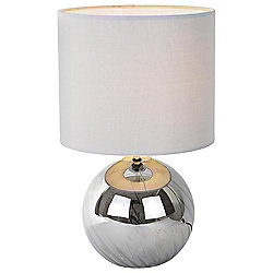 Glass Table Lamp, Grey Smoke