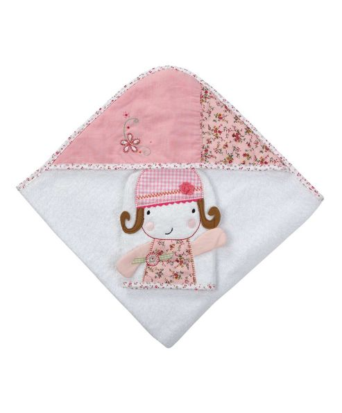 Mamas & Papas - Made with Love - Hooded Towel & Mitt, Girl