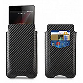 Xperia Z1/Z2 Pouch Case with Credit Card Slot - Carbon Black