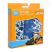 JCB Muslin Squares in Blues (3 Pack, Boxed Gift Set)