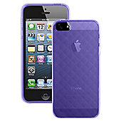 Caseit Quilted Glacier Clip-On Case Cover for iPhone 5/5S - Purple