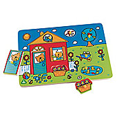 ELC Wooden House Lift Out Puzzle