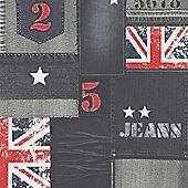 Muriva Jeans Wallpaper