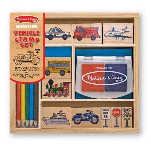 Melissa And Doug Stamp Set Vehicles