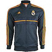 2013-14 Real Madrid Adidas Anthem Jacket (Black-Orange) - Black
