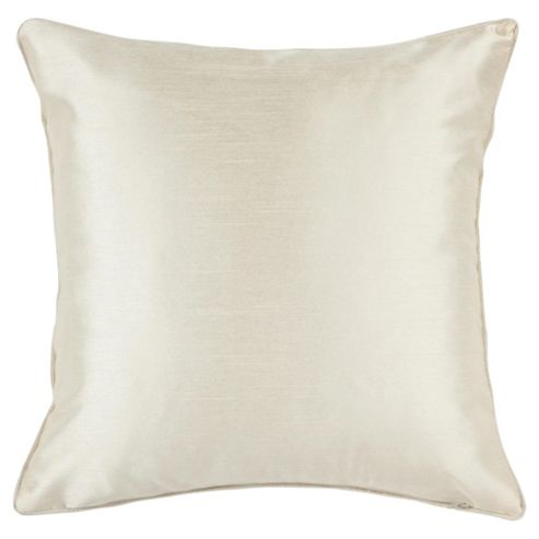 Tesco Faux Silk Cushion Twinpack Ivory