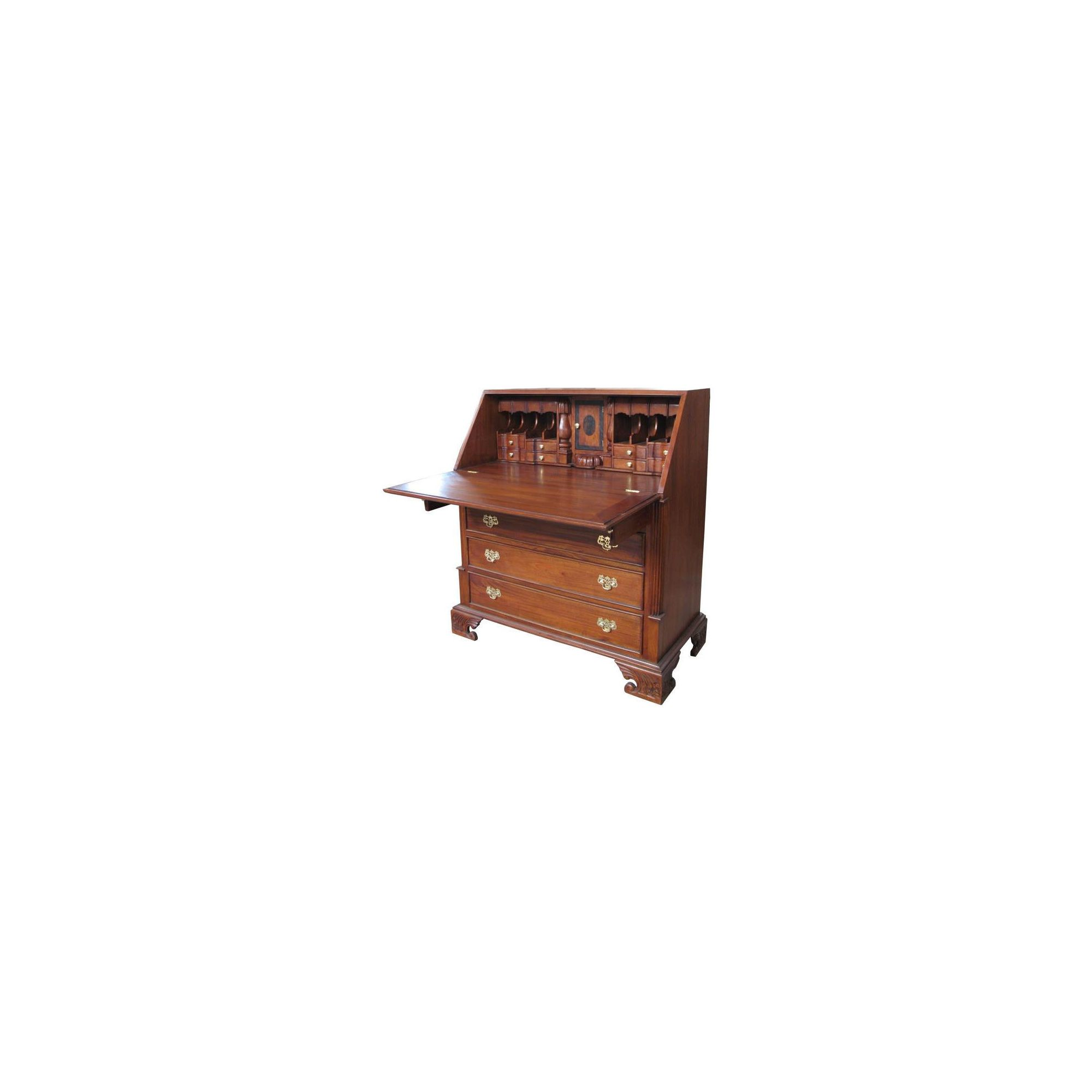 Lock stock and barrel Mahogany Small Bureau Desk in Mahogany at Tesco Direct