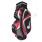 Palm Springs 14 Way Divider Golf Trolley Bag Red