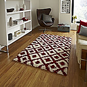 Think Rugs Royal Nomadic Red/Beige Rug - 160 cm x 220 cm (5 ft 3 in x 7 ft 3 in)