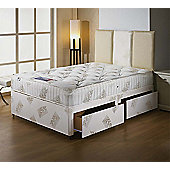 Luxan Orthomedic Single Size Bed Set - With Headboard - 2 Drawers