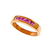 QP Jewellers 0.60ct Sapphire Princess Prestige Ring in 14K Rose Gold