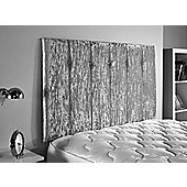 ValuFurniture Jubilee Velvet Fabric Headboard - Silver - Small Double 4ft