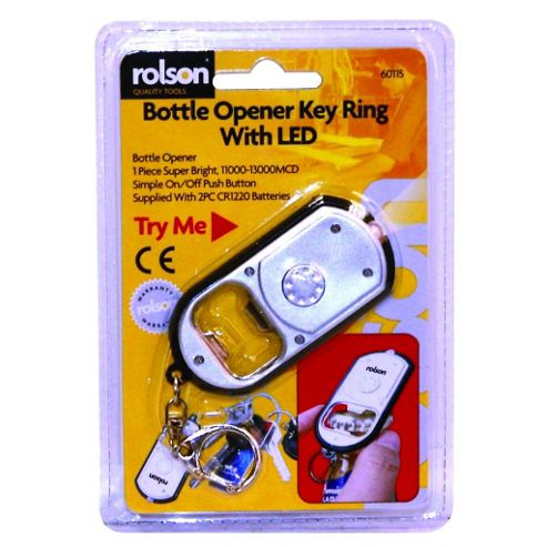 Bottle Opener Key Ring with LED