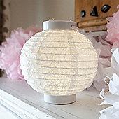 Large White Battery LED Paper Lantern Light