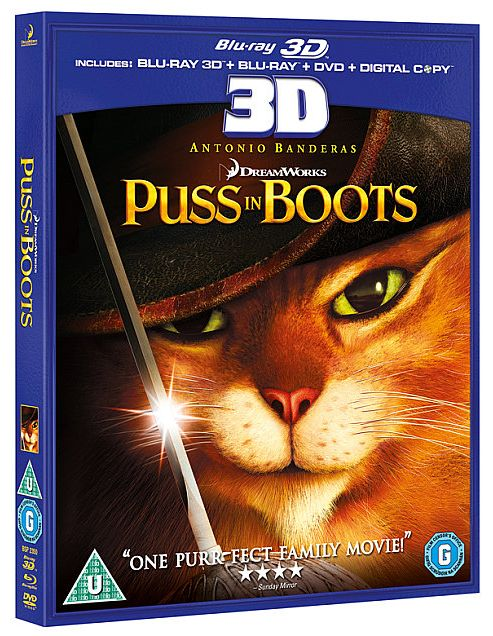 Puss In Boots (3D Blu-Ray)