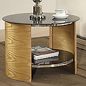 Jual Furnishings Curve Round Lamp Table - Oak