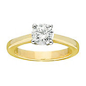 9ct Gold 1 Carat Solitaire Diamond Engagement Ring