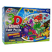Grafix Mermaids Giant 3D Floor Puzzle