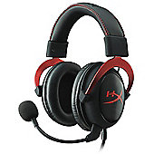 HyperX Cloud II Headset Red PC / PS4 / Mac / Mobile / Xbox One 7.1 virtual surround sound KHX-HSCP-RD
