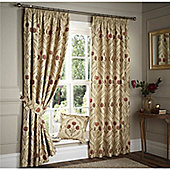 Curtina Nouveau Terracotta 90x72 inches (228x183cm) Lined Curtains