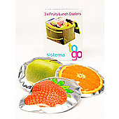 Sistema To Go Fruity Lunch Coolers, Set of 3