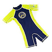 JakaBel Quick Dry Navy/Lime Shorty Sunsuit - Medium (4-5yrs)