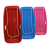 Pack of 3 'Snow Speeder' Plastic Sled - Red, Blue & Pink