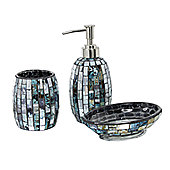 CIMC Home Mosaic Bathroom Set - Peacock Tile
