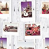 Selfie Dogs Landmark Wallpaper - Muriva 102558