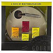 Gourmet Pizza Stone, Slicer & Seasoning Set