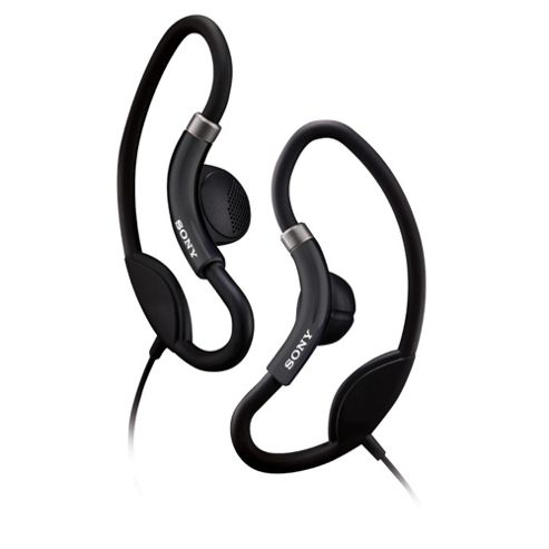 Sony Sport Headphones with Loop Hangers Black MDRAS21