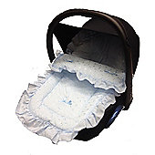 Broderie Anglaise Car Seat Footmuff To Fit Mamas and Papas Blue