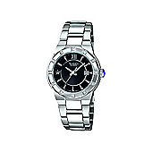 Casio Sheen Ladies Date Display Stone Set Bezel Watch - SHE-4500D-1ADR
