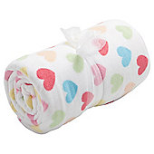 Tesco Loves Baby Fleece Blanket - Hearts