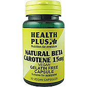 Health Plus Beta Carotene 50mgVegan 30 Veg Capsules
