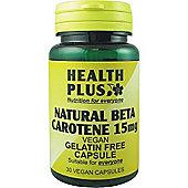 Health Plus Beta Carotene 50mgVegan 30 Veg Capsules