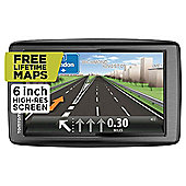 "TomTom Start 60 ""M"" Sat Nav, 6"" LCD Touch Screen with UK/Ireland Maps & Free Lifetime Updates"