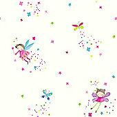Fairy Dust Glitter Wallpaper - White - Arthouse 667101