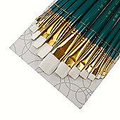 Royal Brush ZipLock Set - White Taklon Flat Variety
