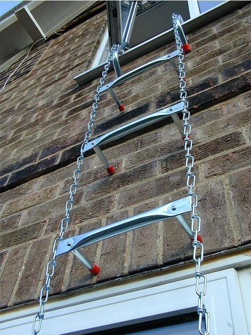 SafEscape 4.58m (15.03ft) Medium Hook Fire Escape Ladder