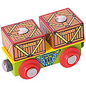 Bigjigs Rail BJT406 Crates Wagon