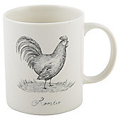Tesco Illustrative Rooster Mug