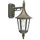 Norlys Rimini Outdoor Down Wall Lantern - Black Gold