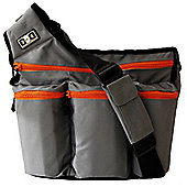 Diaper Dude Original Messenger I Changing Bag Grey/Orange