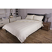 Deyongs 1846 300 Thread Count Sateen Stripe 100% Cotton Bed Sets Single Cream