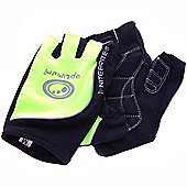 Optimum Nitebrite Half Finger Cycling Gloves - Black / Fluo Green - Black & Green